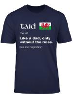 Mens Taid Welsh Grandpa Definition Shirt Proud Wales Flag Gift T Shirt