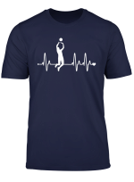 Volleyball Heartbeat Funny Volleyball Player T Shirt