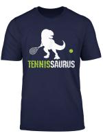 Tennissaurus T Rex Dino Shirt Manner Frauen Kinder