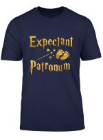 Retro Expectant Patronum Pregnancy Announcement Couple Mom T Shirt