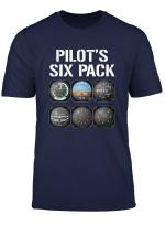 Pilot S Six Pack T Shirt Funny Pilot Aviation Flying Gift