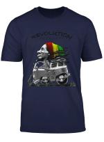 Marley Rasta Reggae Freedom Revolution For Bob Lover T Shirt