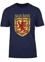 Scottish Rampant Lion T Shirt Scotland Coat Of Arms Shirts