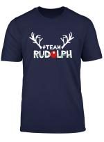 Team Rudolph Funny Christmas Reindeer Lover Xmas Gift T Shirt