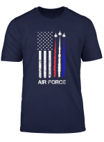 Us Air Force T Shirt Red White Blue Air Force Flyover Tee