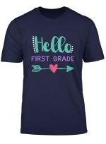 Back To School Tshirt Peace Hello 1St First Grade T Shirt
