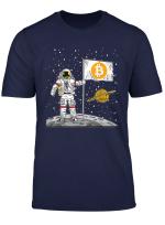 Bitcoin T Shirt Astronaut To The Moon Blockchain
