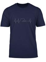 Cooles Pool Billard Snooker Heartbeat Design T Shirt