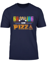 Gaming And Pizza Christmas Gift For Gamer Lover T Shirt