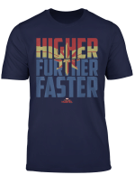 Captain Marvel Movie Higher Further Faster Graphic T Shirt