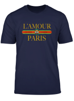 Paris T Shirt Fashion Paris Gold L Amour France Vintage