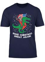 Make Christmas Great Again Trump T Rex Gun Us Dino Xmas Gift T Shirt