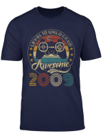 Level 10 Unlocked Awesome Since 2009 10Th Birthday Gamer T Shirt