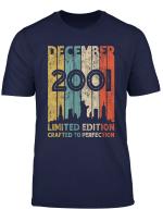 Vintage December 2001 Design 18 Years Old 2001 Birthday Gift T Shirt