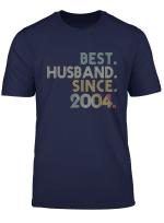 Mens 15Th Wedding Anniversary Gift Best Husband Since 2004 Tee