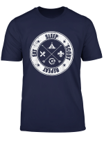 Eat Sleep Scout Repeat Pfadfinder Camping Camper T Shirt