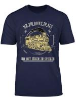 Modellbahn Modelleisenbahn Spur N Zuge Modellbau Geschenk T Shirt