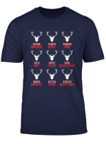 Funny Christmas Reindeer Hunter Deer Meat Hunting Gifts T Shirt