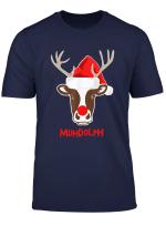 Muhdolph Weihnachten Auf Dem Bauernhof Kuhbauer T Shirt