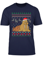 Walrus Christmas Ornament Gift Funny Ugly T Shirt