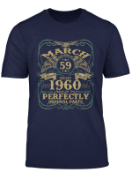 Legend March 1960 Vintage Gift 59Th Birthday T Shirt