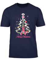 Breast Cancer Merry Christmas Tree T Shirt