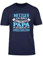 Herren Individuelles Geschenk Papa Vatertag Beruf Metzger T Shirt