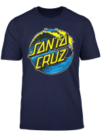 Santa Cruz Blue Wave Skateboards Back T Shirt