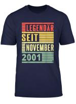 Legendar Seit November 2001 18 Geburtstag Vintage T Shirt
