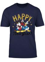 Disney Vintage Mickey Goofy Donald Happy New Year T Shirt
