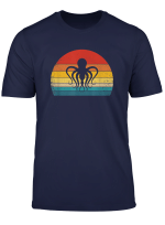 Retro Vintage Sea Octopus T Shirt