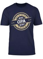 Herren Herren Opa Geschenk Bester Opa Der Welt Shirt