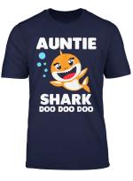 Auntie Shark T Shirt Doo Doo Uncle Mommy Daddy Aunt Tshirt