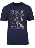Rescue Save Love Cute Animal Rescue Dog Cat Lovers T Shirt