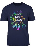 Never Walk Alone Tshirt Horse And Dog Lover Gifts For Women T Shirt