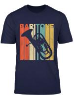 Vintage Retro Baritone Silhouette T Shirt