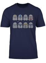 Star Wars Clone Wars Clone Troopers Helmets T Shirt