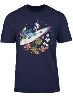 Disney Lilo Stitch Surfing Tropical Circle Portrait T Shirt