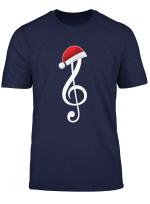 Notenschlussel Weihnachten Noten Musik Weihnachtsmann Lustig T Shirt