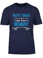 Herren Rute Raus Der Spass Beginnt Fischer Angler Angelrute T Shirt