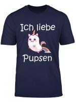 Ich Liebe Pupsen Einhorn Furz Unicorn Poop T Shirt
