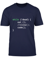 Funny Eat Sleep Code Repeat T Shirt Fur Programmierer