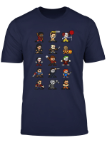 Horror Icons Friends Halloween Horror Scary Pixel Movies T Shirt