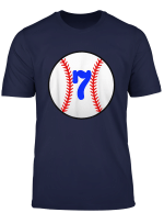 Kids Baseball Shirt 7 Year Old Birthday T Shirt