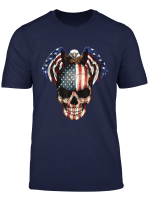 Unisex Casual Short Sleeve T Shirts Tees American Eagle Flag