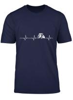 Herzschlag Der Landwirte Traktor Bauern Trecker T Shirt
