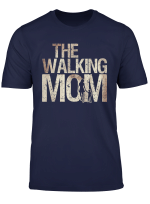 Walking Mom Shirt Zombie Woman And Kid Mother S Day Tee