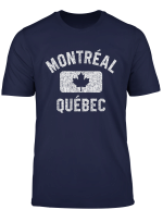 Montreal Maple Leaf Gym Style Distressed White Print T Shirt