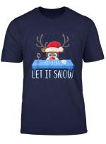 Let It Snow Santa Cocaine Adult Humor Reindeer Funny Gag T Shirt