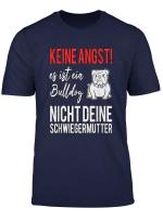 Englische Bulldogge T Shirt Keine Angst Lustig Spruch Oeb